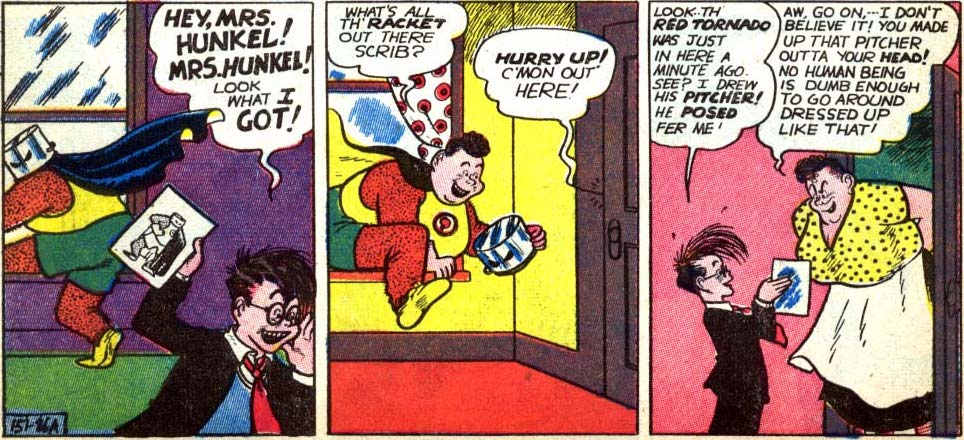timeless design c753f 8d0be Figure 1005  The Red Tornado is revealed as the strikingly butch Ma Hunkel.  (By Sheldon Mayer, in All-American Comics  22, 1941)